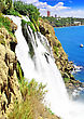 "Big Waterfall "" Duden "" In Turkey,Antalya stock photo"
