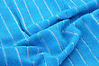 Stock Photo : Hotel Stock Photography: Blue Towel Texture As A Background.