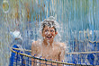Boy in Waterfall