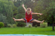 Stock Photo : Children Stock Image: Boy Jumping High