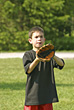 Playful Stock Photography: Boy Playing Catch