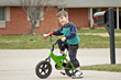 Boy Riding Bike stock photography