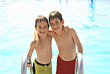 Stock Photo : Playful Pictures: Boys at the Pool