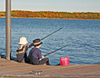 Stock Photo : Fishing Fly Stock Photo: Boys Fishing