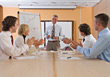 Stock Photo : Conference Table Stock Photography: Business People in Meeting Applauding