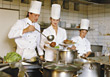 Chefs Preparing A Plate