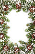 Stock Photo : Lush Stock Image: Christmas Framework With Snow