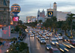 Stock Photo : Dusk Stock Photo: City Traffic, Las Vegas, USA