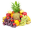 Tropical Colorful Healthy Fresh Fruit. Shot In A Studio - stock photography