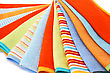 Colorful Towels On White Background. stock photography