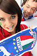 Stock Photo : Italy Stock Photo: Couple Supporting The Italian Soccer Team