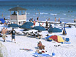 Stock Photo : Beach Stock Photo: Crowded Beach in Florida