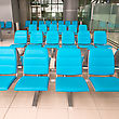 Stock Photo : Hall Stock Photo: Empty Seats In Waiting Room Of Suvarnabhumi Airport, Bangkok, Thailand