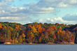 Stock Photo : Lake Pictures: Fall Trees at the Lake