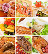 Food Set Of Different Tasty Dishes stock image
