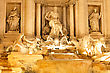 Fountain Di Trevi - Most Famous Rome's Fountains In The World. Italy. Night Scene stock photo