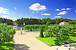 Garden Of Monplaisir Palace. Peterhof, Russia stock photo