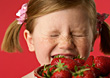 Stock Photo : Allergic Pictures: Girl Allergic To Strawberries