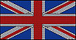 Great Britain Flag (Union Jack) Assembled Of Diamonds. Over Black. Extralarge Resolution. Other Gems Are In My Portfolio.