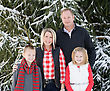 Happy Family at Christmas stock photography