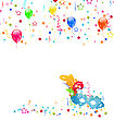 Illustration Carnival Background With Mask, Confetti, Balloons - Vector