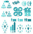 Business People Illustration Set Business Icons, Management And Human Resources - Vector stock vector