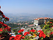 Italy, Republic San Marino Top View stock photography