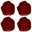 Italy Sealing Wax Stamp Set For Design Use. Vector Illustration.