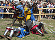KAMYANETS-PODILSKY- JUNE 2: Knights Battle During Forpost (The Outpost) Festival Of Medieval Culture On June 2, Ukraine stock image