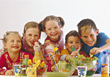 People Eating  Kids Eating Healthy stock image