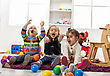 Stock Photo : Kid Pictures: Kids playing in the room