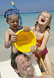 Stock Photo : Kid Stock Image: Kids Pouring Bucket of Water on Dad