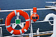 Stock Photo : Security Pictures: Lifebuoy Ring On A Vessel Is In Available Seat