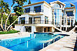 Tropical Luxurious Villa And Swimming Pool In Cyprus. stock image