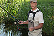Stock Photo : Fishing Fly Stock Photography: Man Fishing