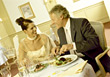Stock Photo : People Eating  Stock Image: Mature Couple Elegant Dinner