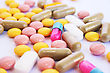 Medical Pills And Tablets Closeup Picture. - stock photography