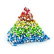Medical Pyramid Made From Multicolored Layers Of Capsules Stock Image