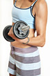 Stock Photo : Gym Stock Photo: body bust diet blond