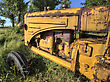 Land Old Vintage Farm Tractor Saskatchewan Canada Yellow stock photography