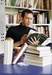 Stock Photo : Groups Small Stock Photography: students reading male college