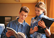Stock Photo : Groups Small Stock Photography: reading students learn chatting