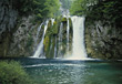 Stock Photo : Fronts Lake Stock Image: Plitvice Lakes, Croatia
