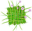 Wreath Raster. Summer Grass Decoration stock image