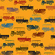 Retro Color Seamless Pattern With Vintage Cars