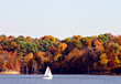 Stock Photo : Lake Pictures: Sailboat on the Lake