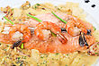 Prepared Food Salmon Fish And Seafood Tasty Gourmet Dish Closeup stock photography