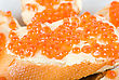 Stock Photo : Prepared Food Stock Photography: Sandwiches Caviar At Plate Close Up