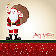 Santa Claus, Greeting Card Design In Vector Format