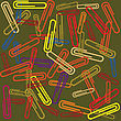 Seamless Background With Paperclips